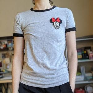 Minnie Mouse jersey shirt, size S!
